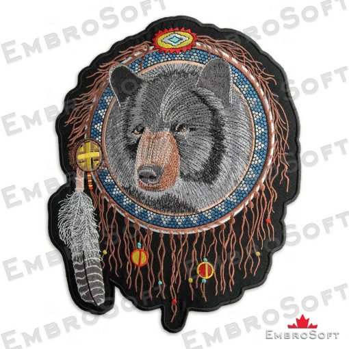 The embroidered patches Bear in Dreamcatcher turned to left side