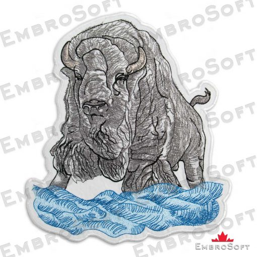The embroidery designs Bizon with Cloud