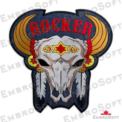 The embroidered patch Buffalo Skull