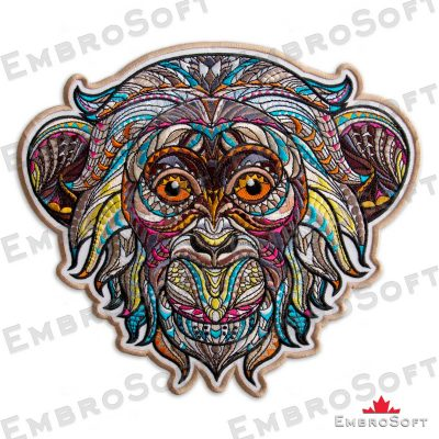 The embroidered patch Creative Monkey