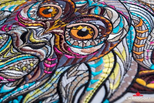 The embroidered patch Creative Monkey - macro picture