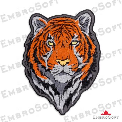 The embroidered patches Head of Bengal Tiger
