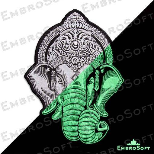 Head of Ganesha White off Glow