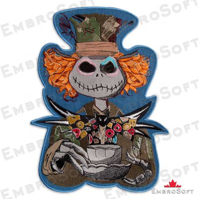 The embroidered patch Mad Hatter
