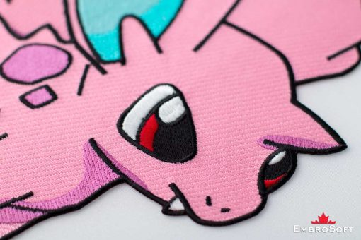 The embroidered patch Pokemon Nidoran - portrait