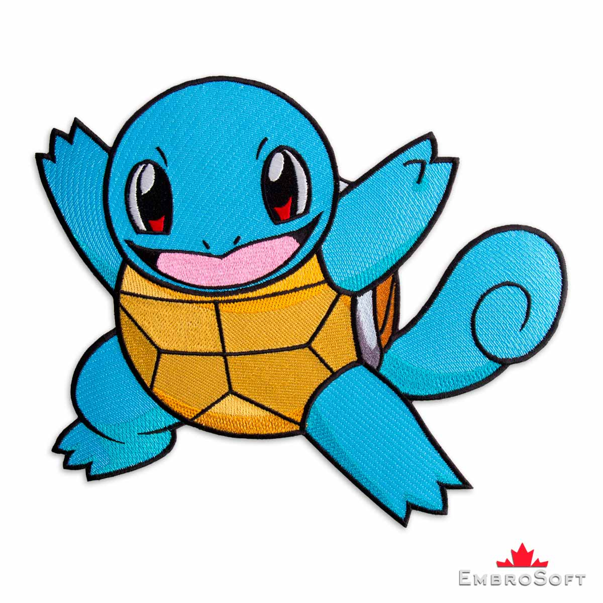 Squirtle Pokemon Embroidered Patch Embrosoft