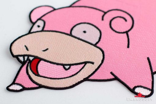 The embroidered patch Slowpoke - portrait photo
