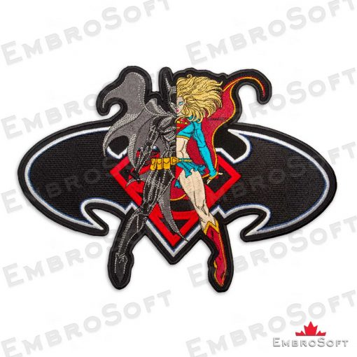 The embroidered patch Super Batgirl