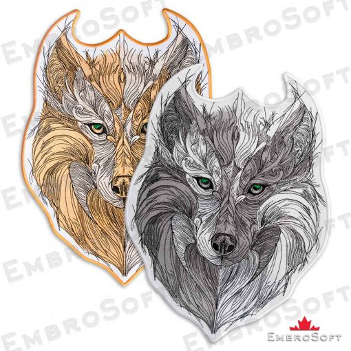 Tribal Wolf with Green Eyes Duos