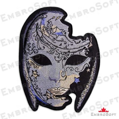The embroidered patch Venetian Mask