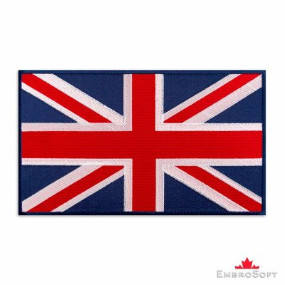 Large Flag of United Kingdom Embroidered Patch Colored rectangular flags