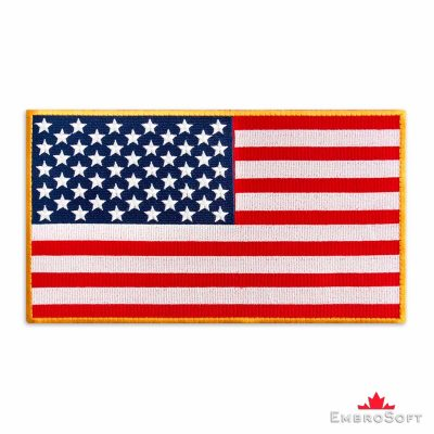 Large Flag of United States of America Embroidered Patch Colored rectangular flags