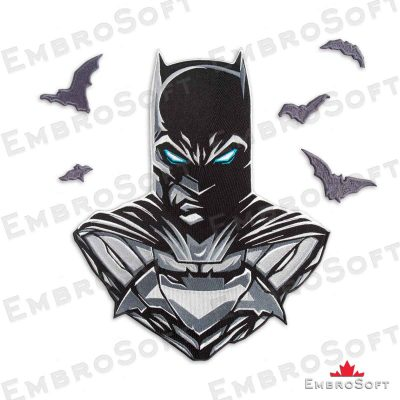 The embroidered patch famous superhero Batman