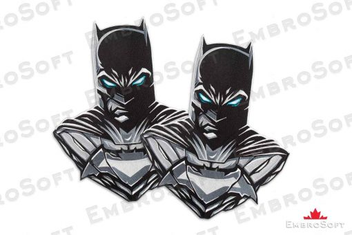 The embroidered patch famous superhero Batman - collage