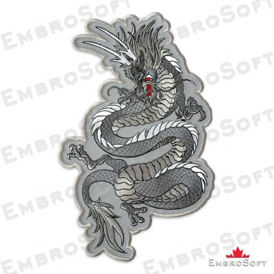 The embroidered patch Mystical Dragon in left rotation