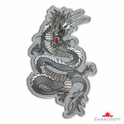 Mystical Dragon Embroidered Patch Iron On Fantasy and Dragons