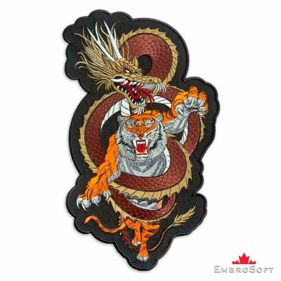 The embroidered patch Tiger&Dragon