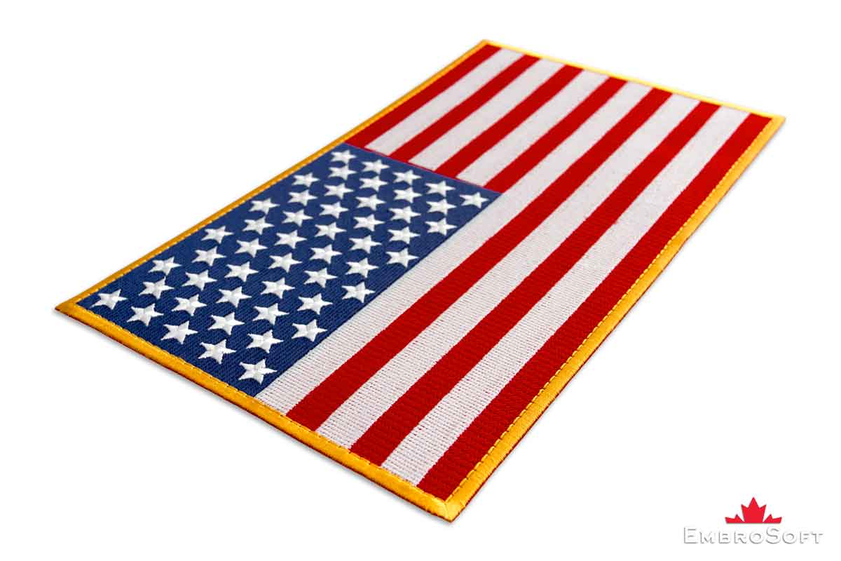 3panel american usa united states of america flag canvas colored flag of united states of america embroidered patch 308