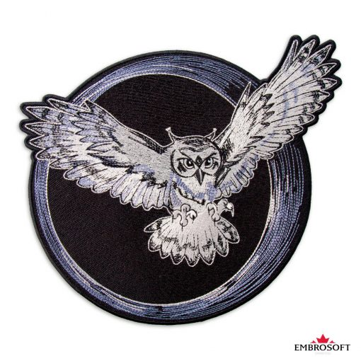 Embroidered owl patch