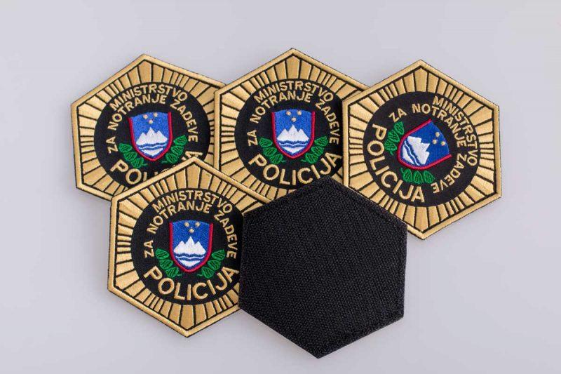 Ministrstvo za notranje zadeve, Policija, embroidered patch