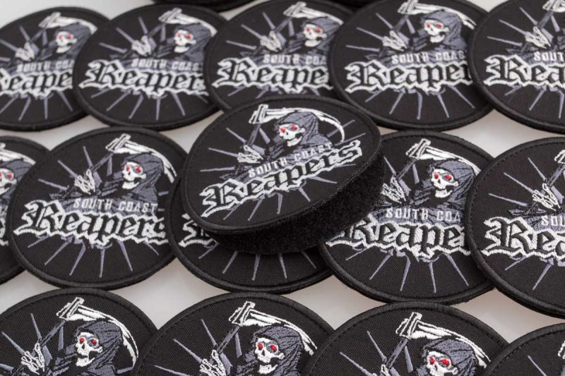 """Embroidered patches """"Reapers"""", south coast"""