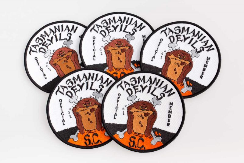 Tasmanian devils, official member, embroidered patch