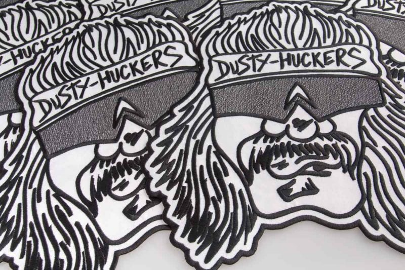 Dusty huckers, brutal embroidered patch