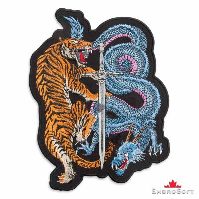 Tiger and Dragon with sword frontal