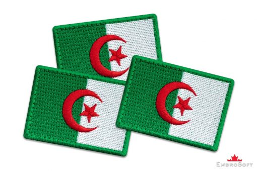 Flag Embroidered Patch of Algeria Collage Photo