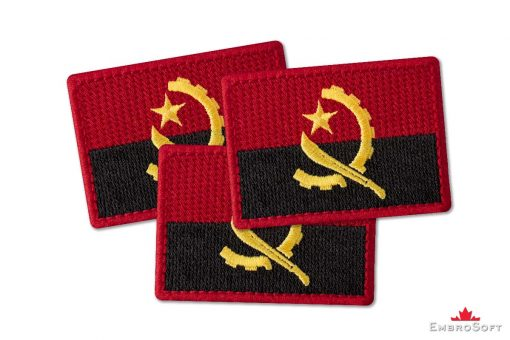 Flag Embroidered Patch of Angola Collage Photo