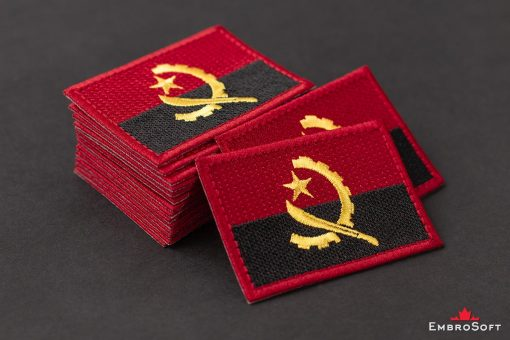 Flag Embroidered Patch of Angola Pile Photo