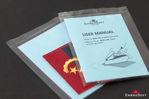 Flag Embroidered Patch of Angola Packaging Photo