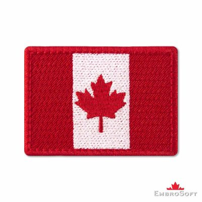 Flag of Canada Embroidered Patch (2.8″ × 2″) Flags of North America