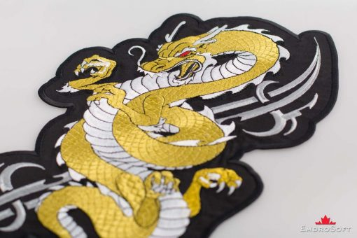 Golden Dragon On Surface
