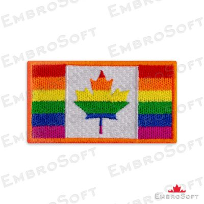 LGBT Canada flag embroidered patch
