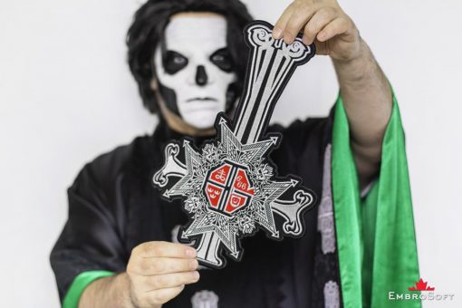 Ghost band Papa Emeritus Grucifix Patch Red with Papa