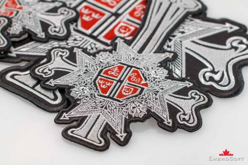 Ghost band Papa Emeritus Grucifix Patch Red Small