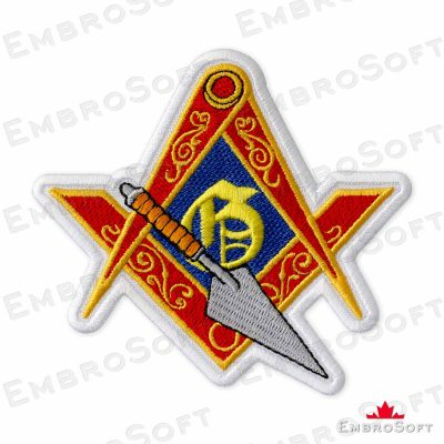 Masonic Logo with Trowel Frontal