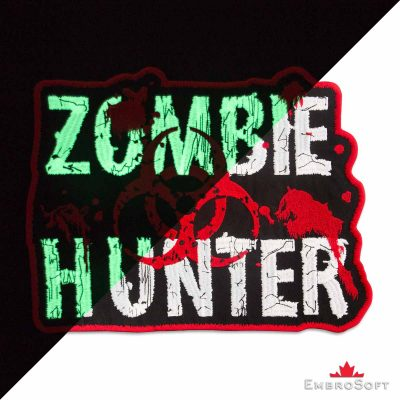 Zombie Hunter Embroidered Patch Iron On TV & Movie