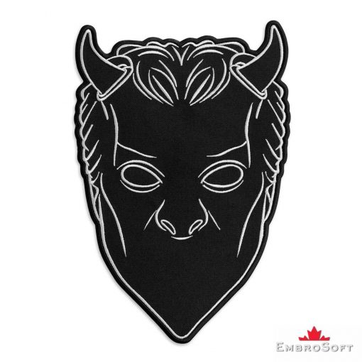 Nameless Ghouls Black Mask Embroidered Patch Frontal