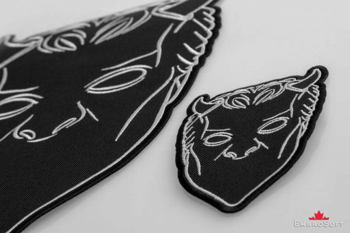 Nameless Ghouls Black Mask Embroidered Patch Macro