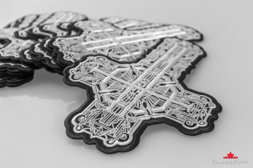 Grusifix Black and White Macro | Embroidered Patch by Embrosoft