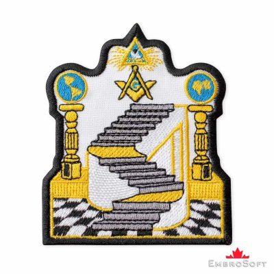 Masonic Emblem Embroidered Patch (3.2″ × 3.7″) Masonry