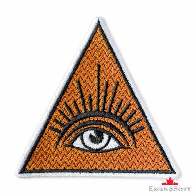 Masonic Eye Embroidered Patch (3.5″ × 3.5″) Masonry