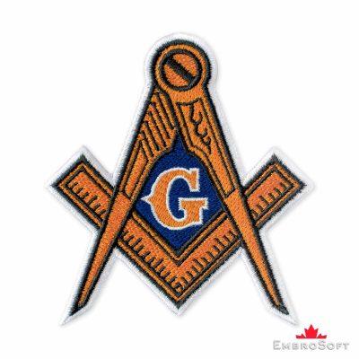 Masonic Logo Embroidered Patch (3.5″ × 3.8″) Masonry