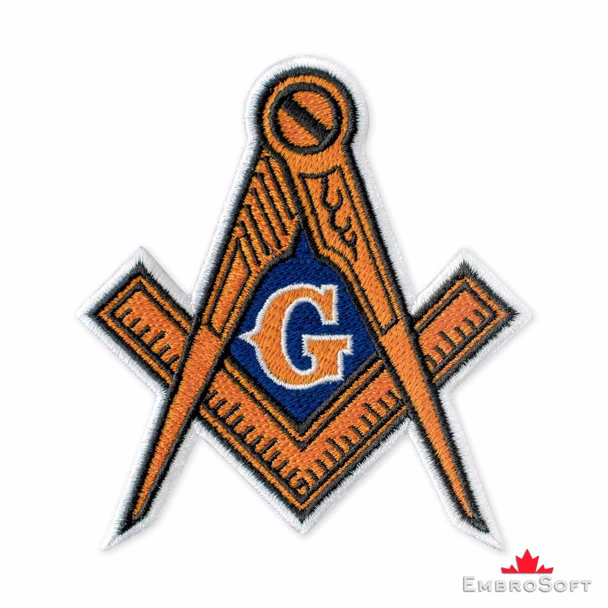 "Freemasons Wisdom Strength Illuminati Freemason Embroidered Iron On Patch 3/""x3/"""