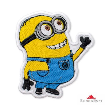 Minion Dave Embroidered Patch Iron On Cartoons