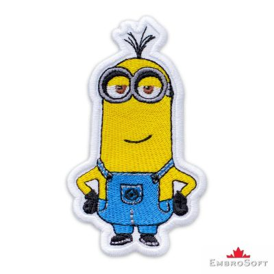 Minion Proud Kevin Embroidered Patch Iron On Cartoons