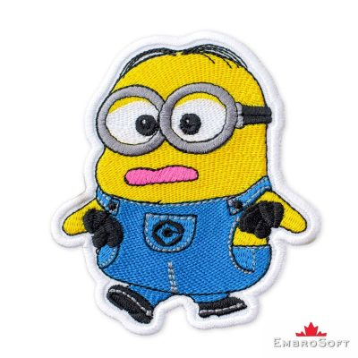 Minion Silly Dave Embroidered Patch Iron On Cartoons