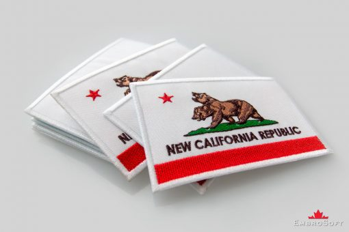Fallout New California Republic Flag Lying On Surface